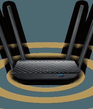 BuyASUS RT-AC1300UHP AC1300 DUAL-BAND High Power Wi-Fi RouterPrice in Bangladesh.