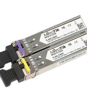 Mikrotik S-4554LC80D SFP 1.25G module for 80km links with Single LC connectors Price in Bangladesh.